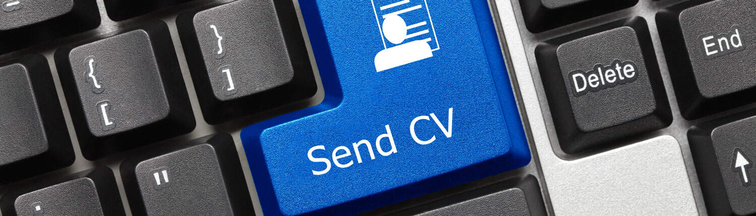 Image of a keyboard with a send CV button