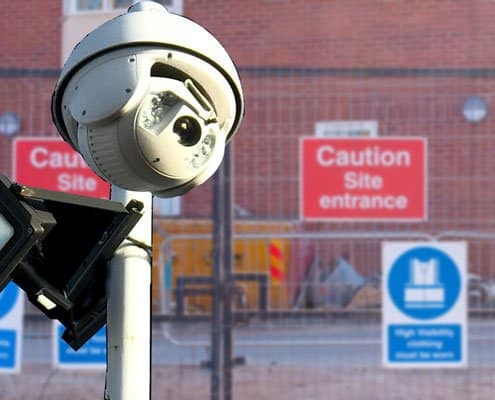 Building Site Construction Security and CCTV